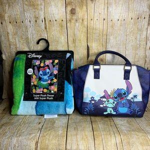 Disneys Lilo & Stitch Gift Set Satchel & Throw